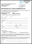 Aufnahmeantrag Mitgliedschaft